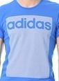 adidas Baskılı Tişört Mavi